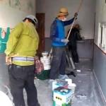 새로운 벽화를 위한 밑작업