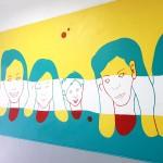 말끔히 재현된 두레방 내벽 그림